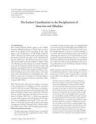 The Earliest Contributions to the Decipherment of Sumerian and ...