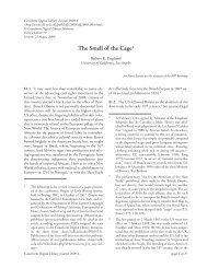 The Smell of the Cage - Cuneiform Digital Library Initiative - UCLA