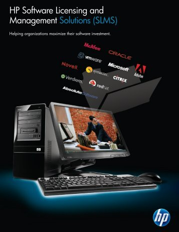 HP Software Licensing and Management Solutions (SLMS) - McAfee