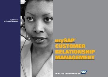 SAP CRM brochure (PDF, 142KB) - Large Enterprise Business