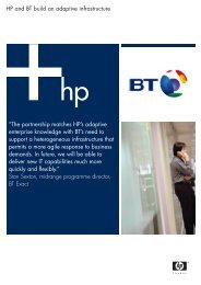 HP and BT build an adaptive infrastructure - Large Enterprise ...