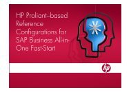 HP Proliant–based Reference Configurations for SAP Business All-in