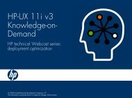 HP-UX 11i v3 Knowledge-on-Demand - Large Enterprise Business ...