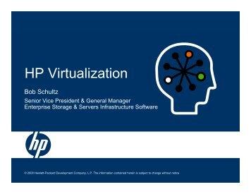 HP Virtualization - Large Enterprise Business - HP