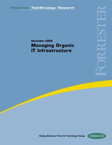 Managing Organic IT Infrastructure - Large Enterprise Business - HP