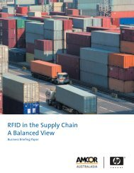 RFID in the Supply Chain - A Balanced View - Large Enterprise ...