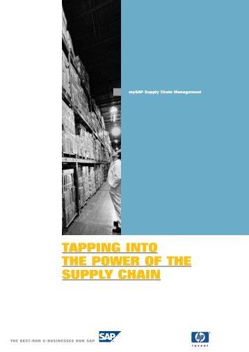 SCM Alliance brochure(PDF) - Large Enterprise Business - HP