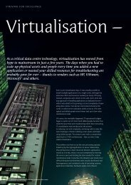 As a critical data centre technology, virtualisation has moved from ...