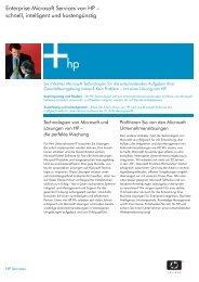 Enterprise Microsoft Services von HP - Large Enterprise Business - HP