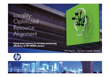 Locality - Large Enterprise Business - HP