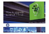 How to upgrade to HP-UX 11i v3 - Large Enterprise Business - HP