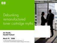 Debunking remanufactured toner cartridge myths - HP