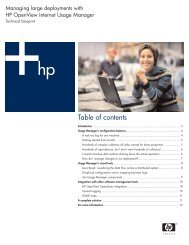 Table of contents - Large Enterprise Business - HP