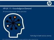 HP-UX 11i Knowledge-on-Demand - Large Enterprise Business - HP