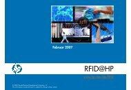 RFID@HP - Large Enterprise Business - HP