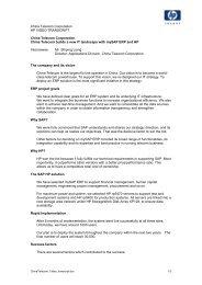 Video transcript (PDF, 29KB) - Large Enterprise Business - HP