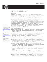 Web Jetadmin Fact Sheet- FINAL - Large Enterprise Business - HP