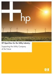 HP OpenView for the Utility Industry whitepaper (PDF, 2.41MB)