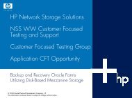 NSS 2H Marketing - Large Enterprise Business - HP