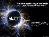 Smart Engineering Simulation with Multiphysics and HPC from ANSYS