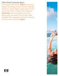HP 2006 Global Citizenship Report - Large Enterprise Business