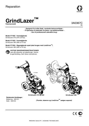3A0367C - GrindLazer Repair (Danish) - Graco Inc.