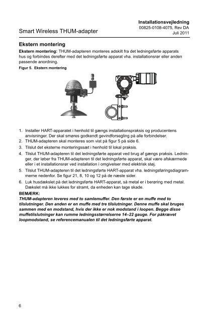 Smart Wireless THUM™-adapter - Emerson Process Management