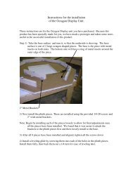 Instructions for the installation of the Octagon Display Unit. - Bretford
