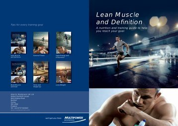 Lean Muscle and Definition - Gfitness