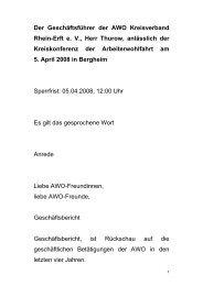 Der Geschäftsführer der AWO Kreisverband Rhein-Erft e. V., Herr ...