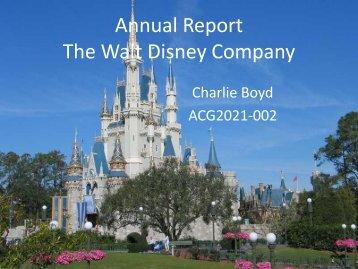 Annual Report The Walt Disney Company