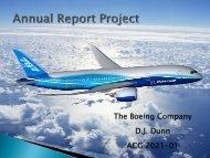 The Boeing Company D.J. Dunn ACG 2021-01