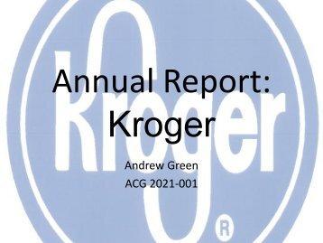 Annual Report: Kroger