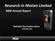 Research In Motion Limited