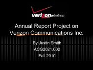 Annual Report Project on Verizon Communications Inc.
