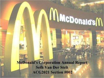 McDonald's Corporation Annual Report