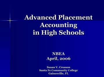 Advanced Placement Accounting in High Schools - Emory Goizueta ...