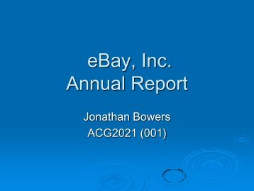 eBay, Inc. Annual Report