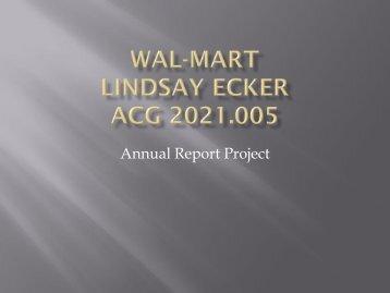 Wal-Mart Lindsay Ecker ACG 2021.005