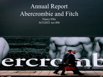 Annual Report Abercrombie and Fitch