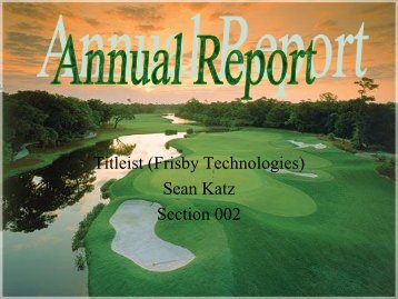 Titleist (Frisby Technologies) Sean Katz Section 002