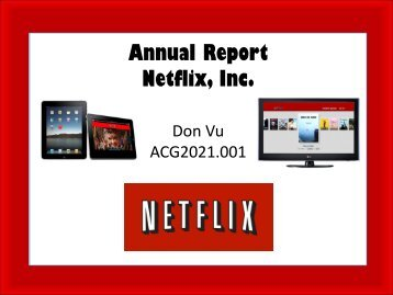 Annual Report Netflix
