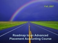 Roadmap to an Advanced Placement ... - Santa Fe College