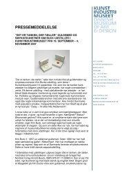 Download Pressemeddelelse - Designmuseum Danmark