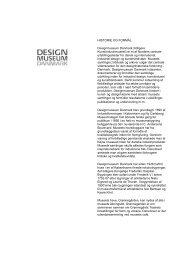 Pressemateriale - Designmuseum Danmark