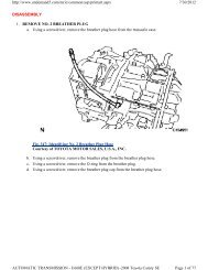 DISASSEMBLY 1. REMOVE NO. 2 BREATHER PLUG a. Using a ...