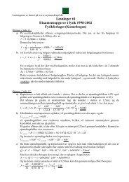 Løsninger til Eksamensopgaver i fysik 1998-2002 ... - szymanski spil