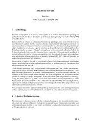 Elektriske netværk 1 Indledning. 2 Lineære ligningssystemer.