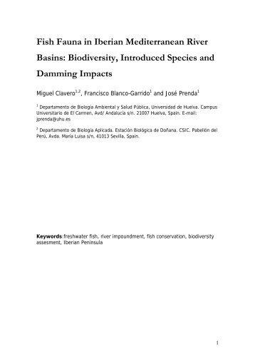 freshwater fish fauna in mediterranean river basins - Universidad de ...