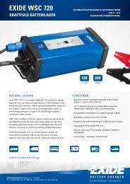 24v exide wsc 720 - Exides batterier